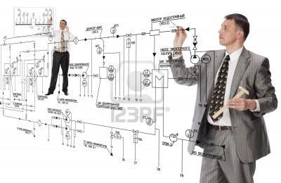 9605563-trabajo-colectivo-de-disenadores-de-ingenieros-en-ejecucion-de-proyectos-de-electrotecnica-de-la-doc